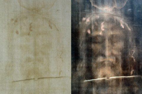 Turínské plátno po aplikaci digitálních filterů